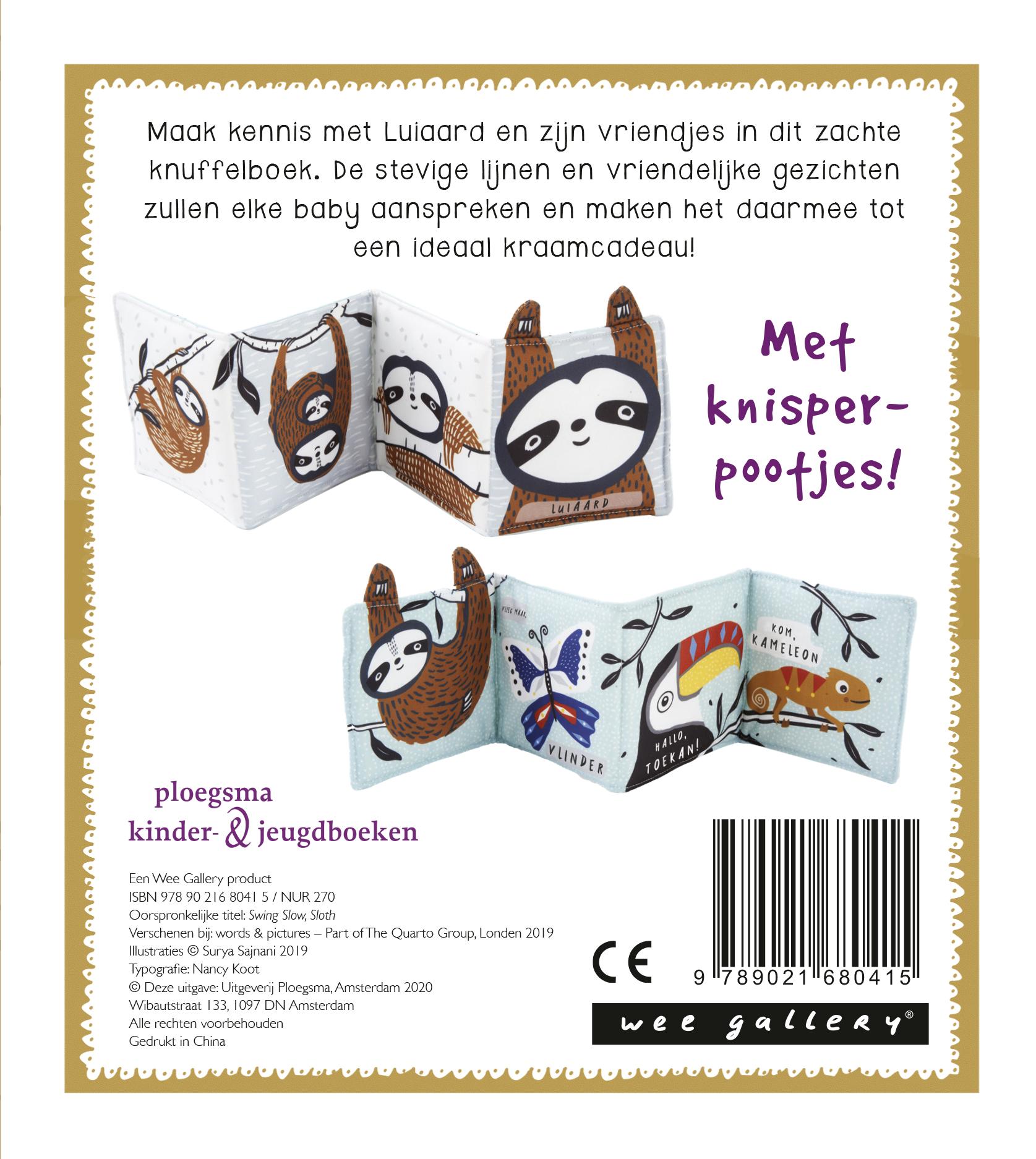 Knuffelboekje Luiaard
