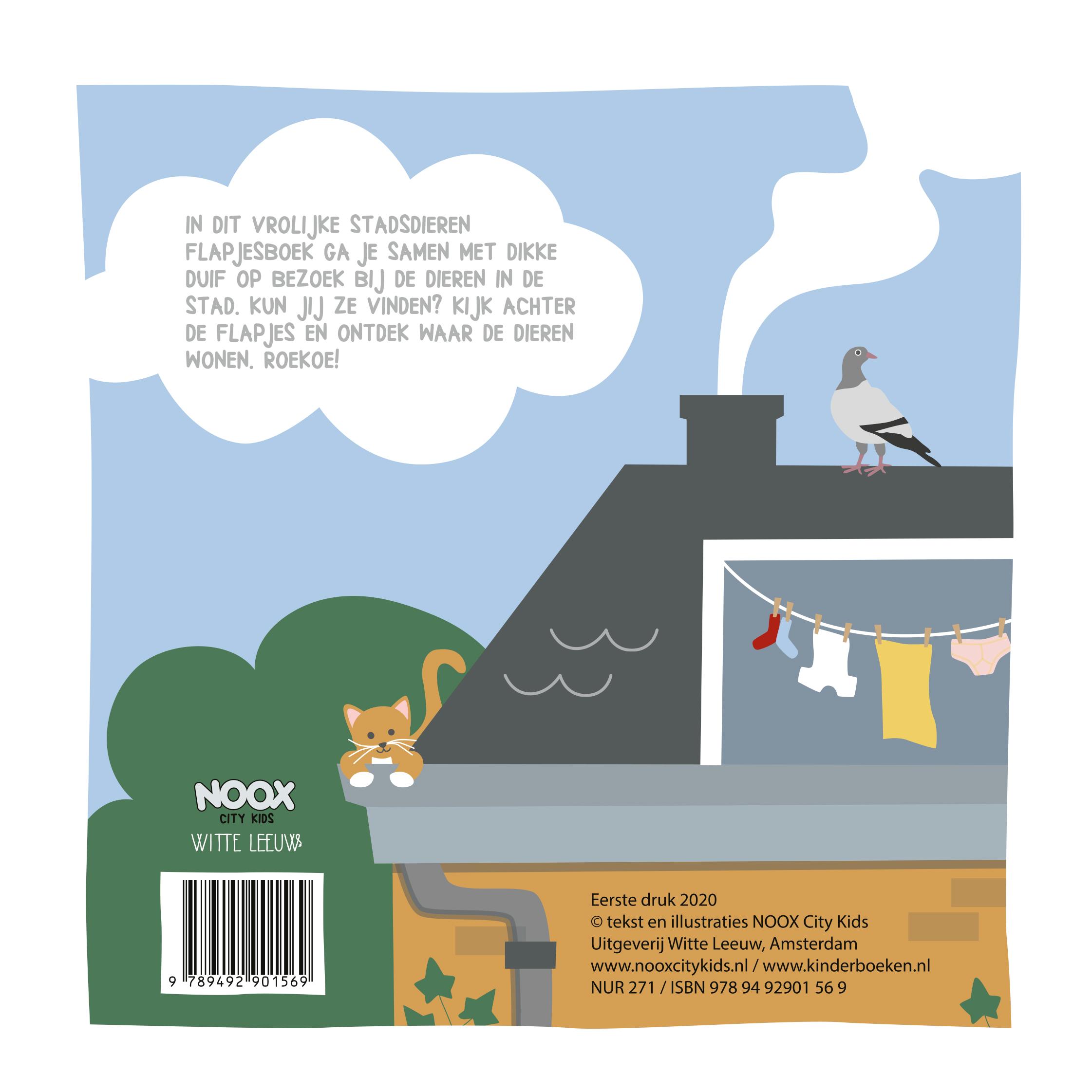 Het vrolijke stadsdieren flapjesboek